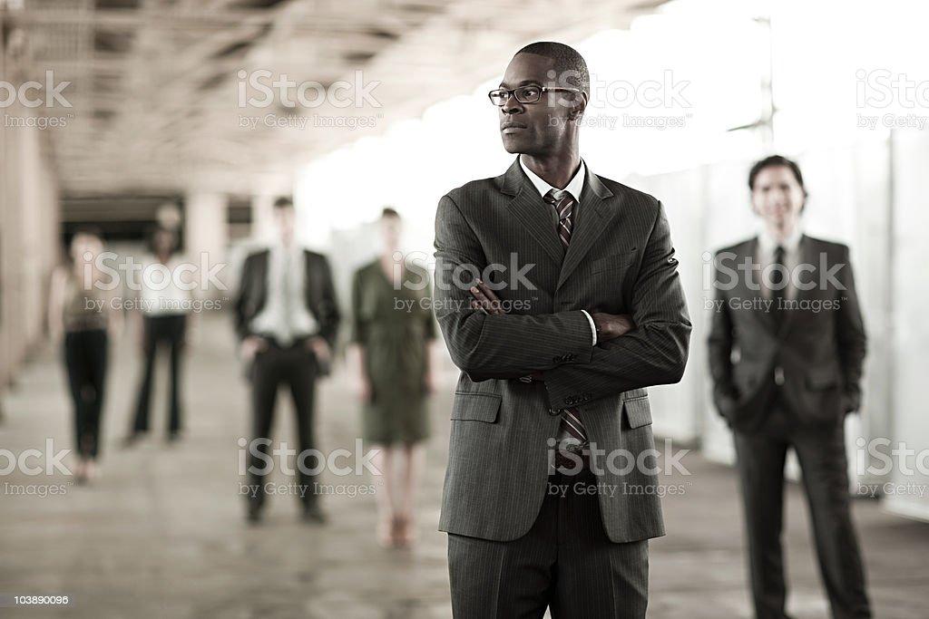 Businessman in focus stock photo