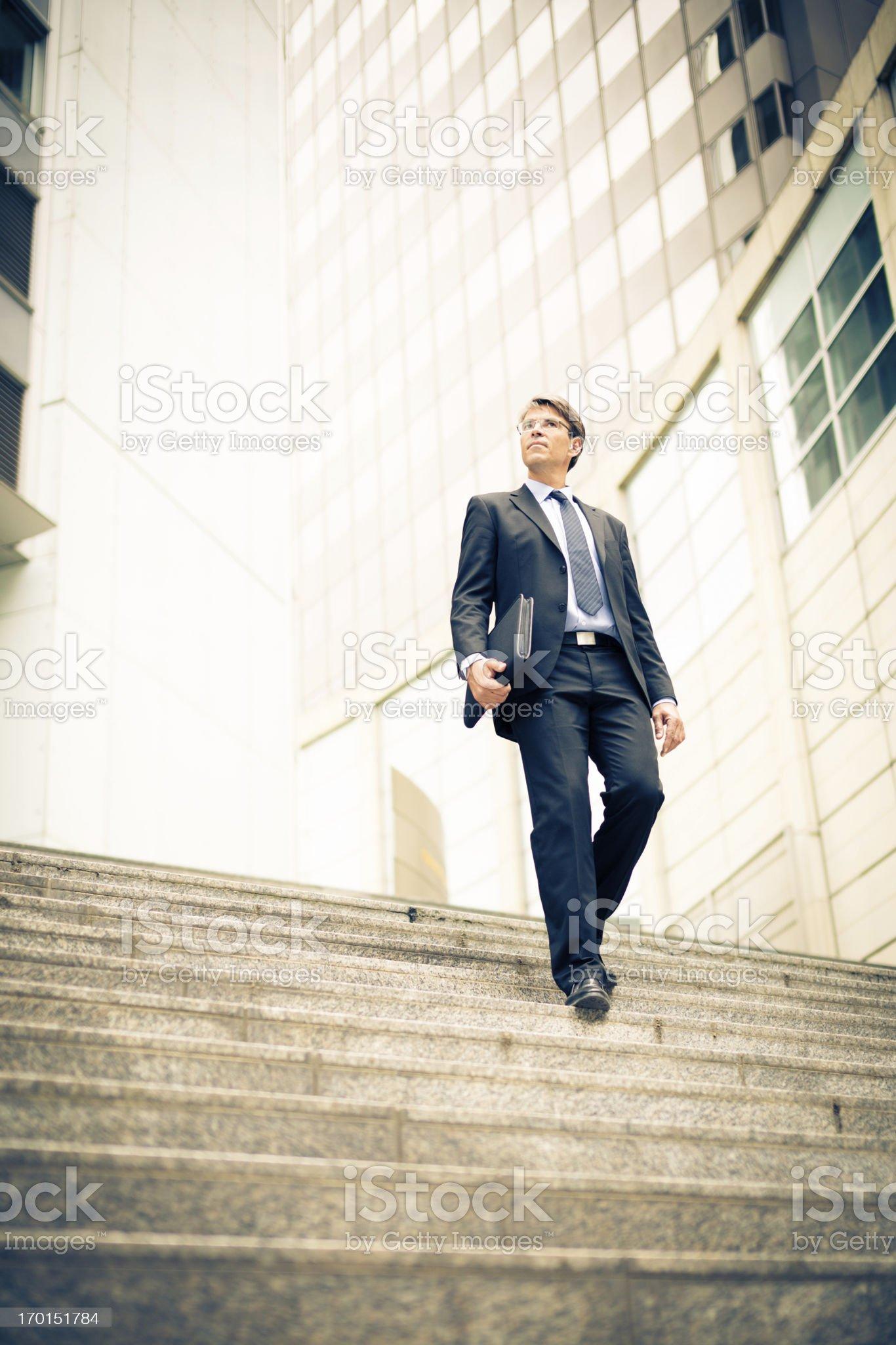 businessman in frankfurt/main royalty-free stock photo