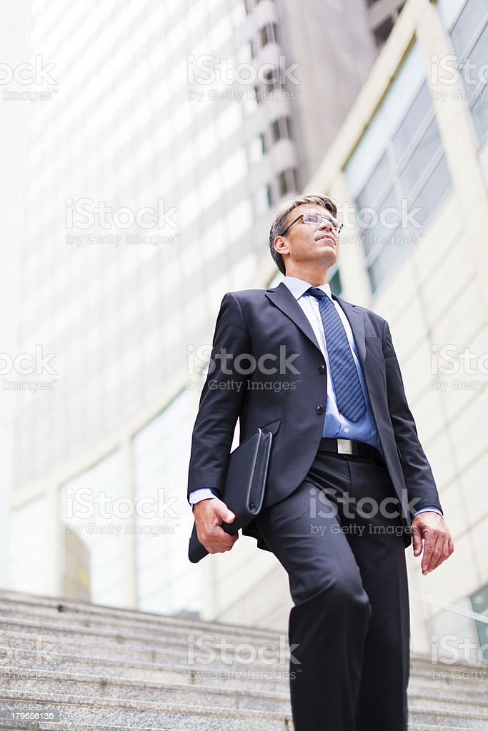 businessman in frankfurt/main royalty-free stock photo
