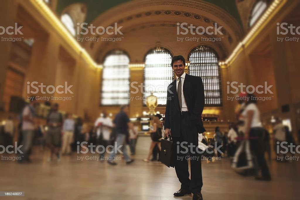 businessman in Grand Central Terminal royalty-free stock photo