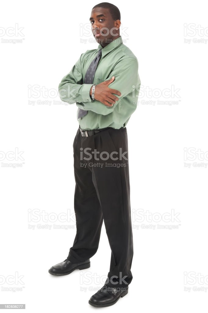 Businessman in Green stock photo