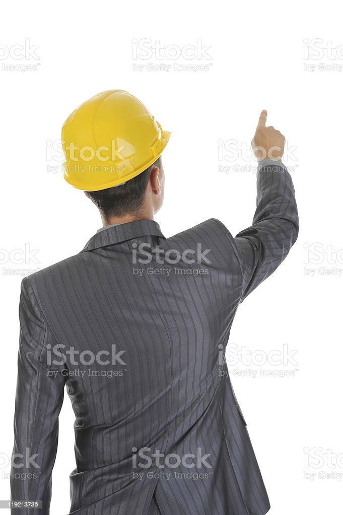 Businessman  in helmet royalty-free stock photo