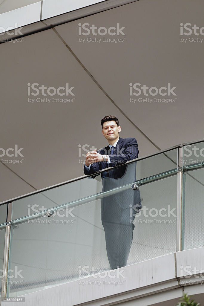 Businessman in high position royalty-free stock photo