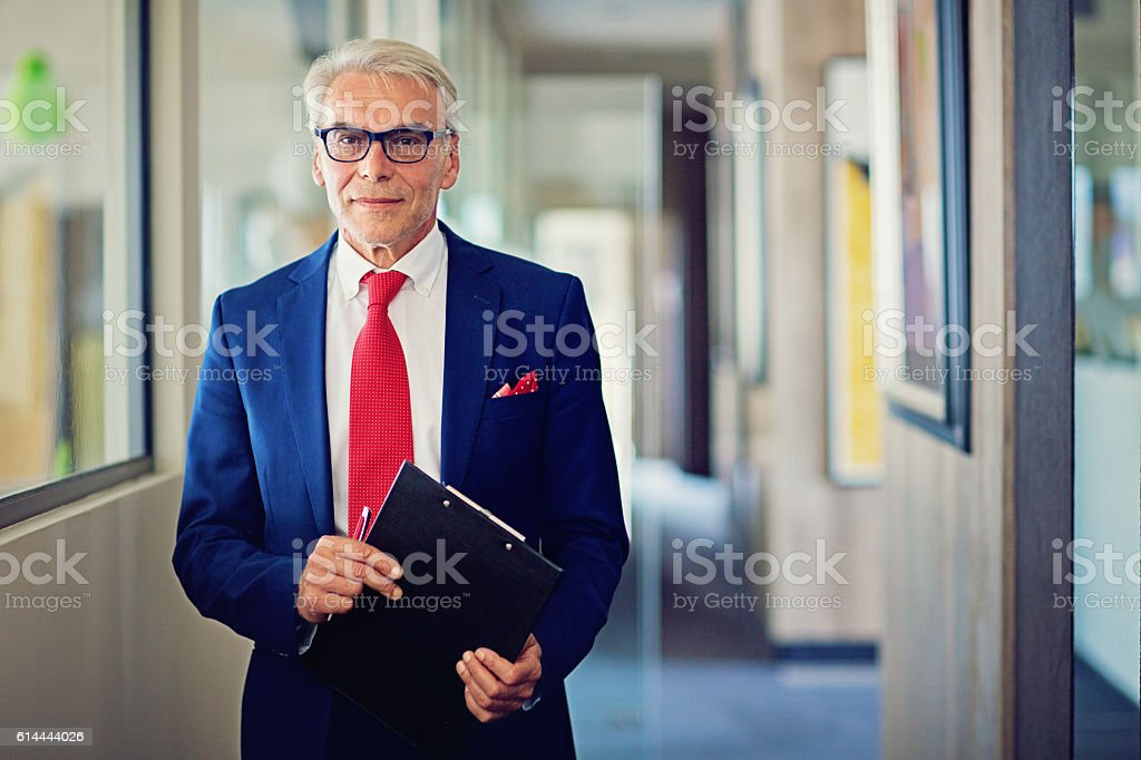 Businessman in his office stock photo