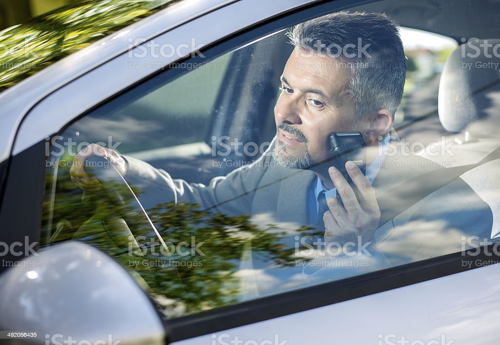 Businessman In Hurry royalty-free stock photo