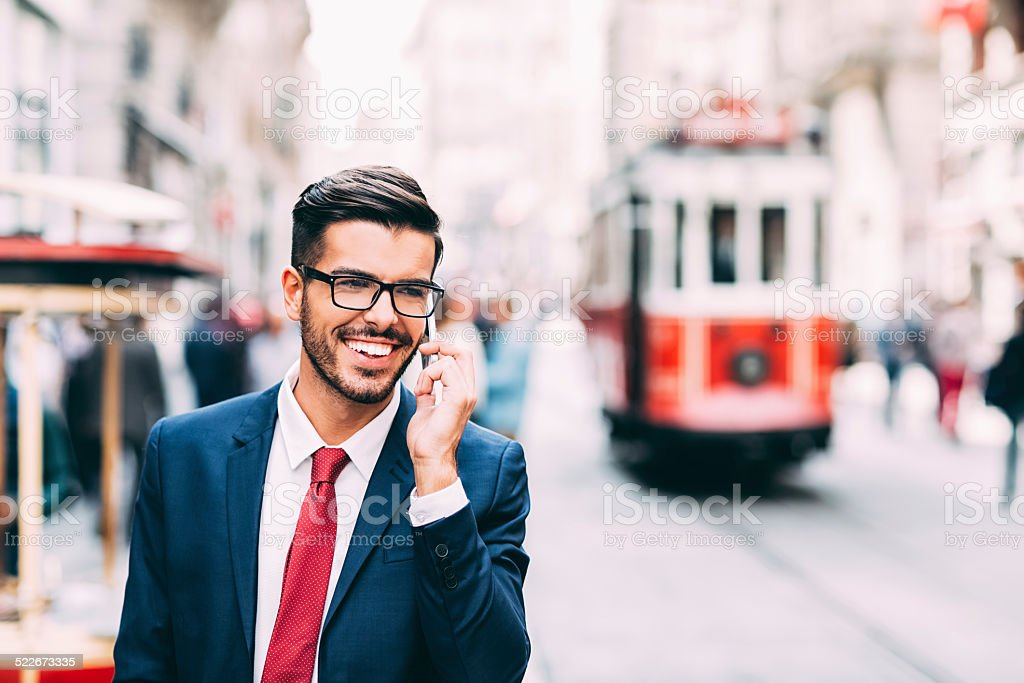 Businessman in Istanbul stock photo
