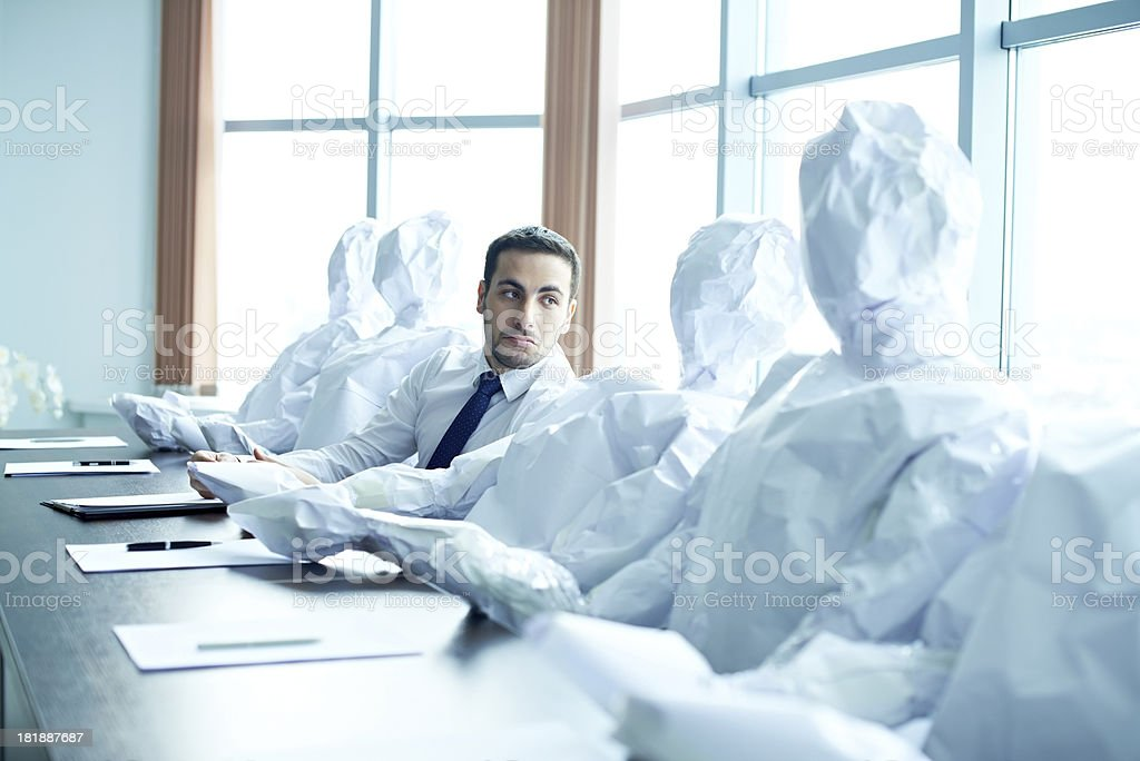 Businessman in loneliness royalty-free stock photo