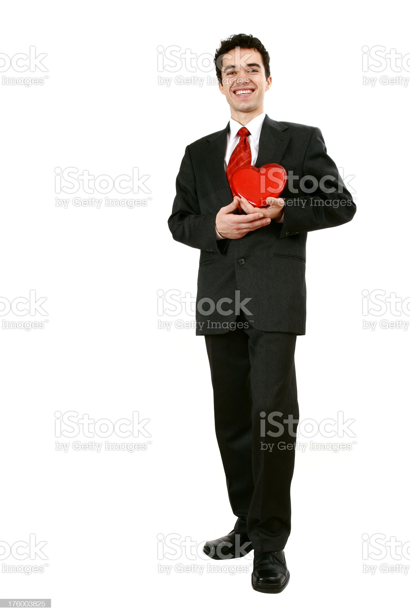 Businessman in love royalty-free stock photo