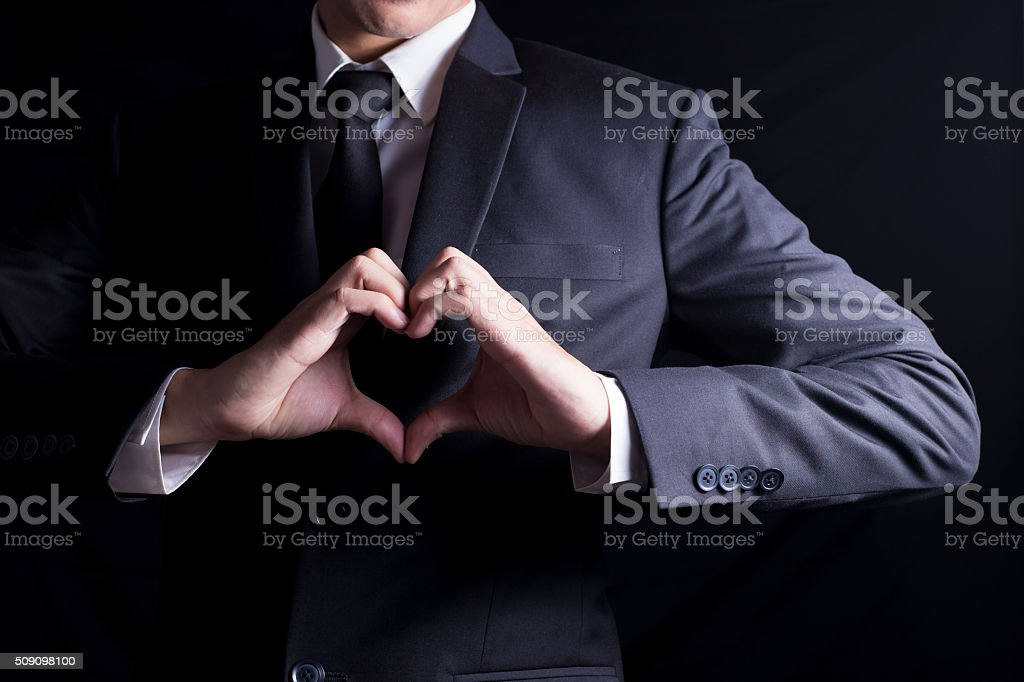 Businessman in Love stock photo