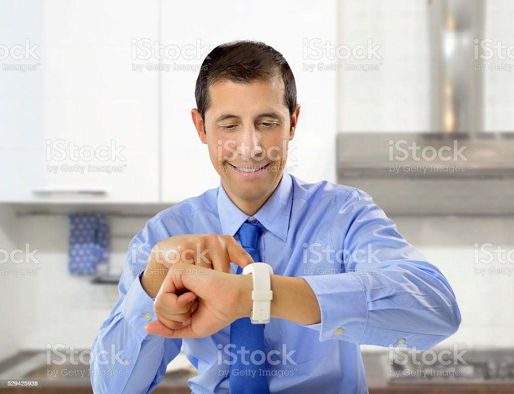 businessman in lunchtime stock photo
