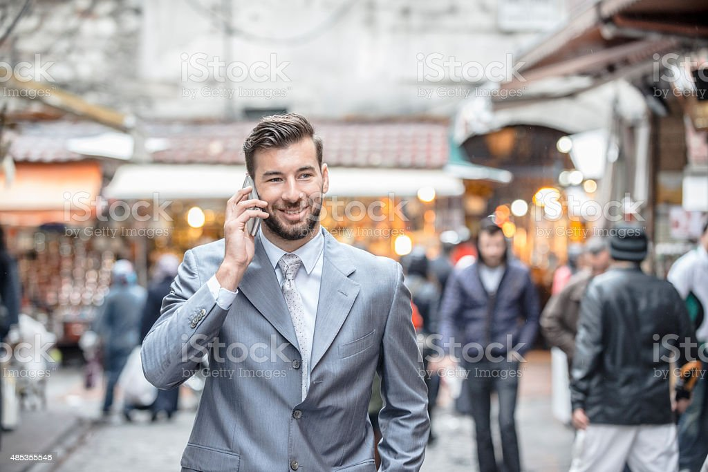 Businessman in Middle East stock photo
