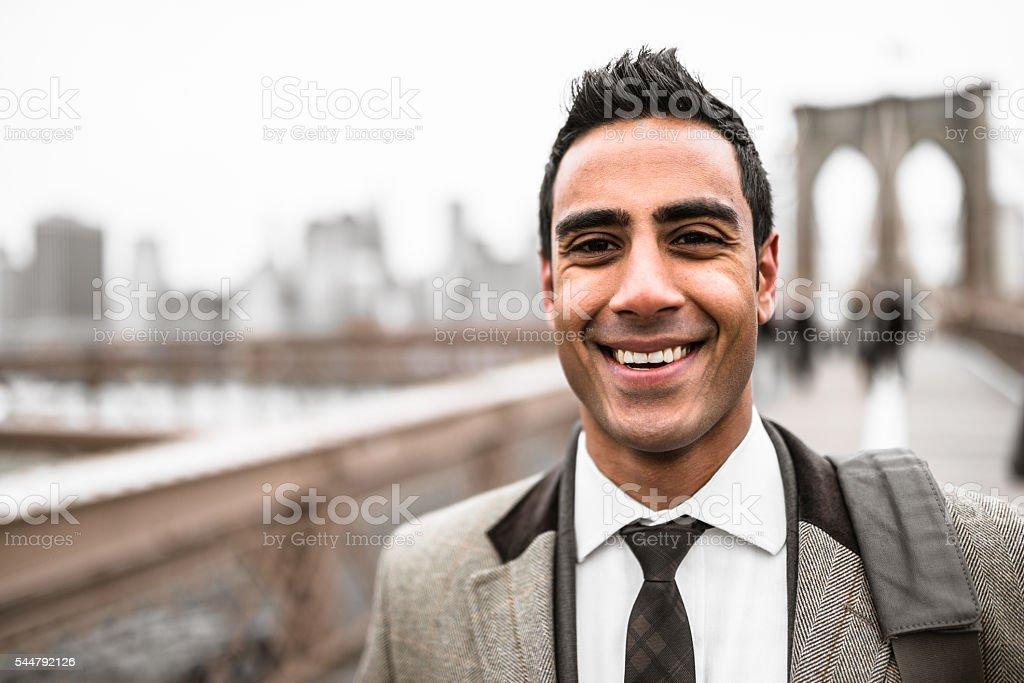 Businessman  in new york city stock photo