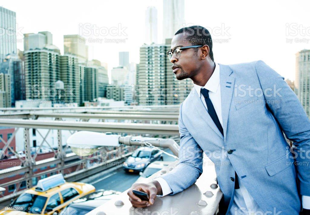 Businessman in New york stock photo