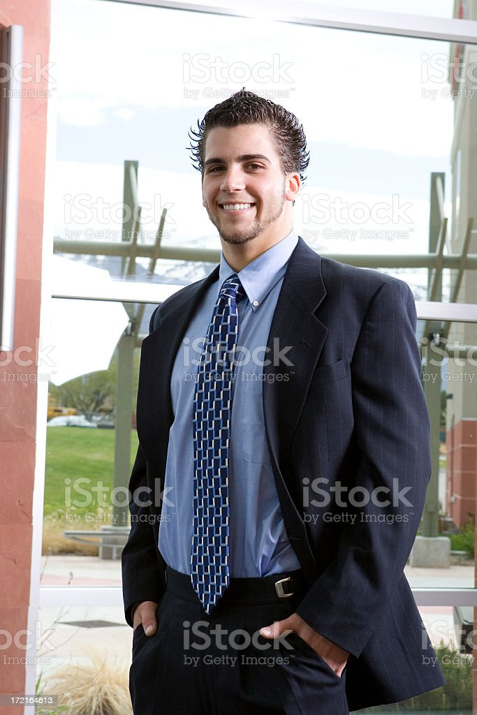 Businessman in Office Building royalty-free stock photo