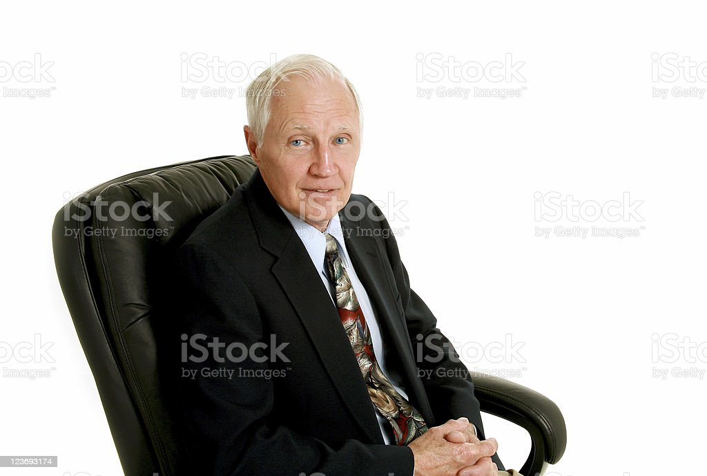 Businessman in office chair royalty-free stock photo