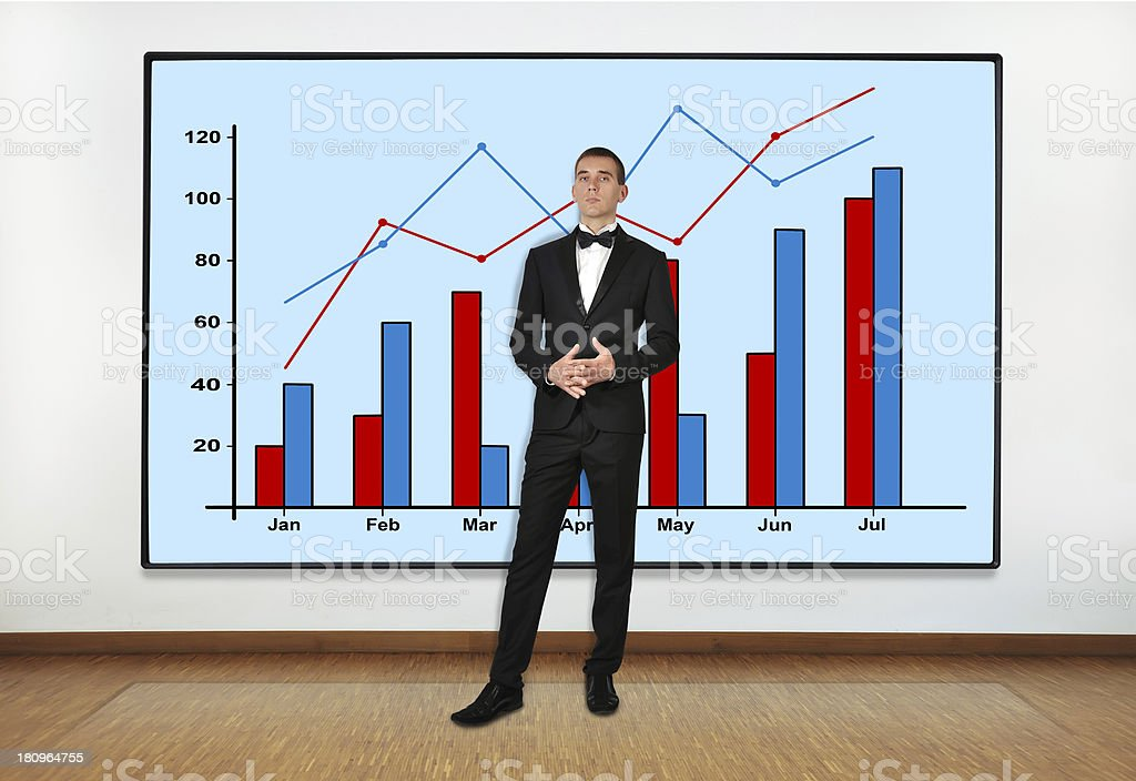 businessman in office royalty-free stock photo