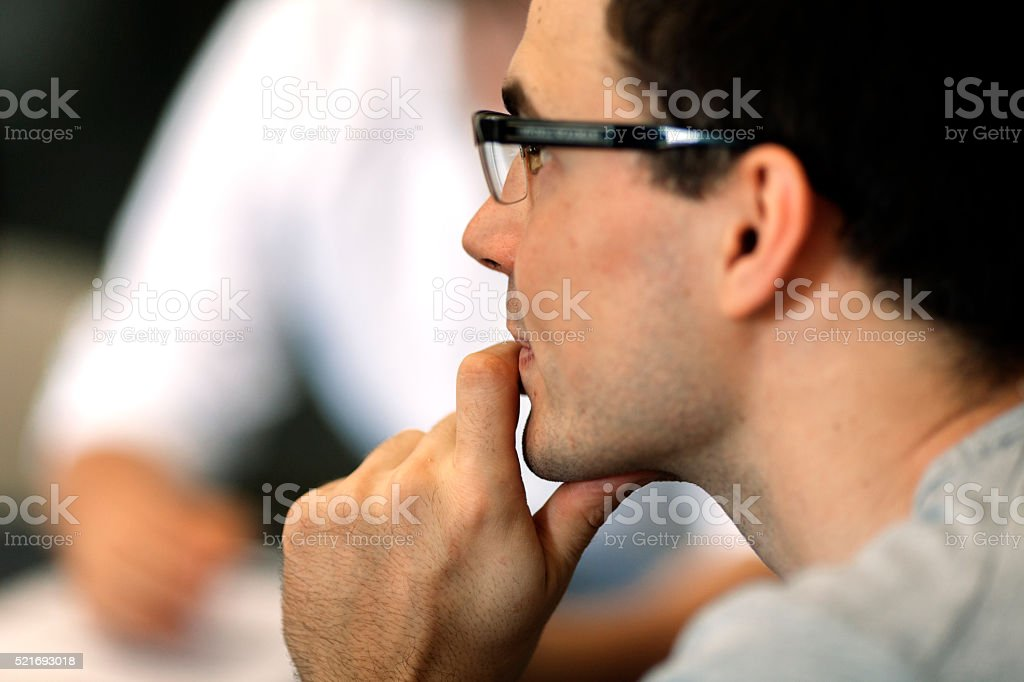 Businessman in office. stock photo