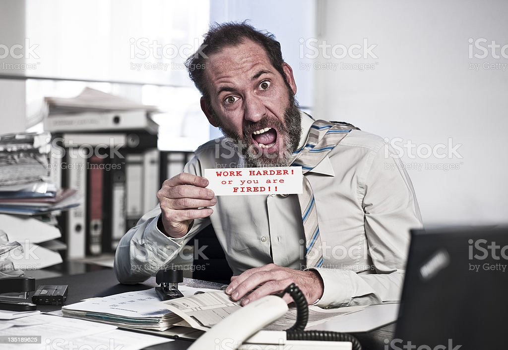 Businessman in Panic royalty-free stock photo