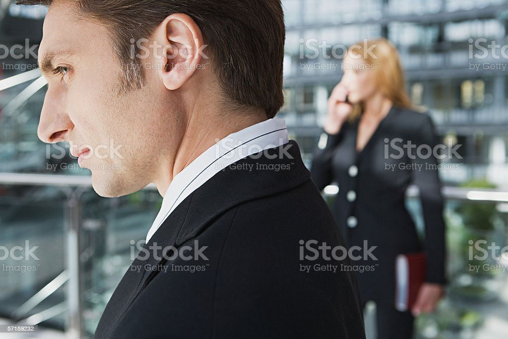 Businessman in profile royalty-free stock photo