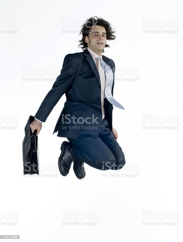 businessman in the air royalty-free stock photo