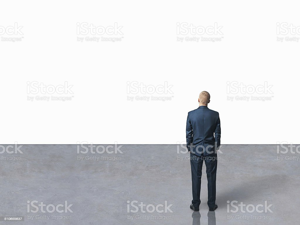 businessman in the hall stock photo