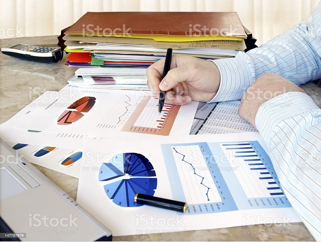 Businessman in the Office royalty-free stock photo