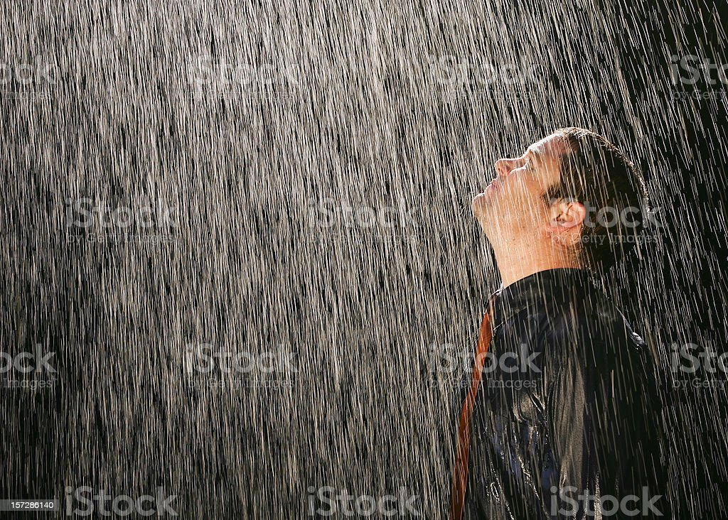 Businessman in the Rain royalty-free stock photo