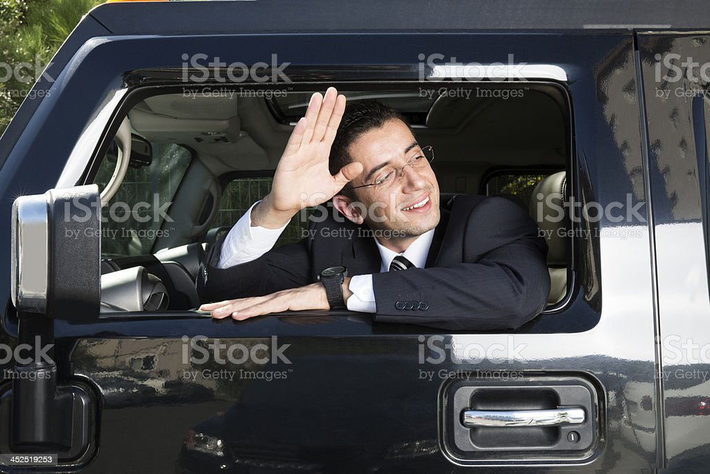 Businessman In Traffic stock photo