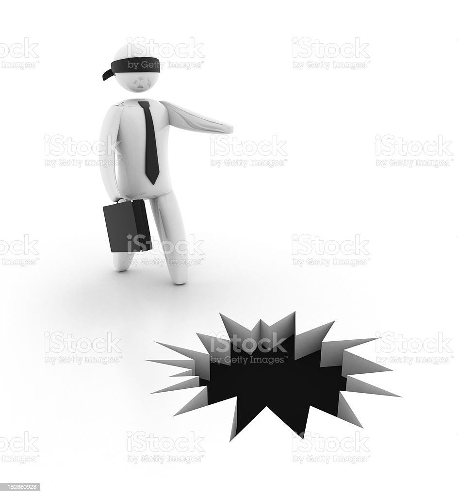 Businessman in trouble royalty-free stock photo