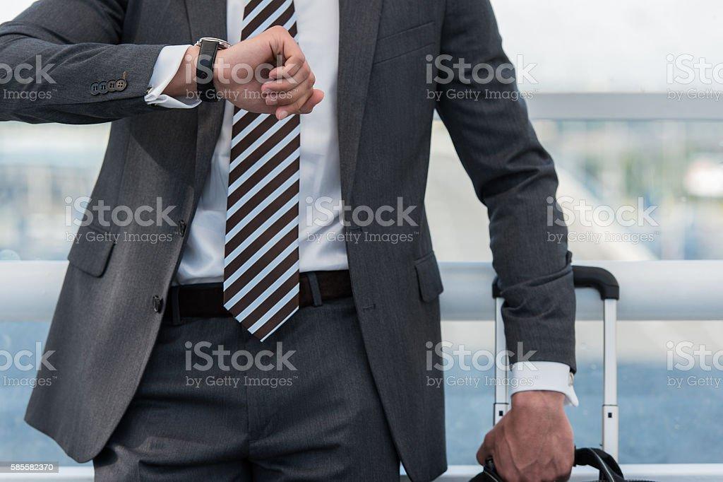 Businessman in urban environment stock photo