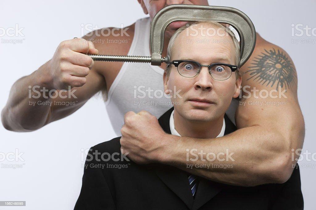 businessman intimidation stock photo