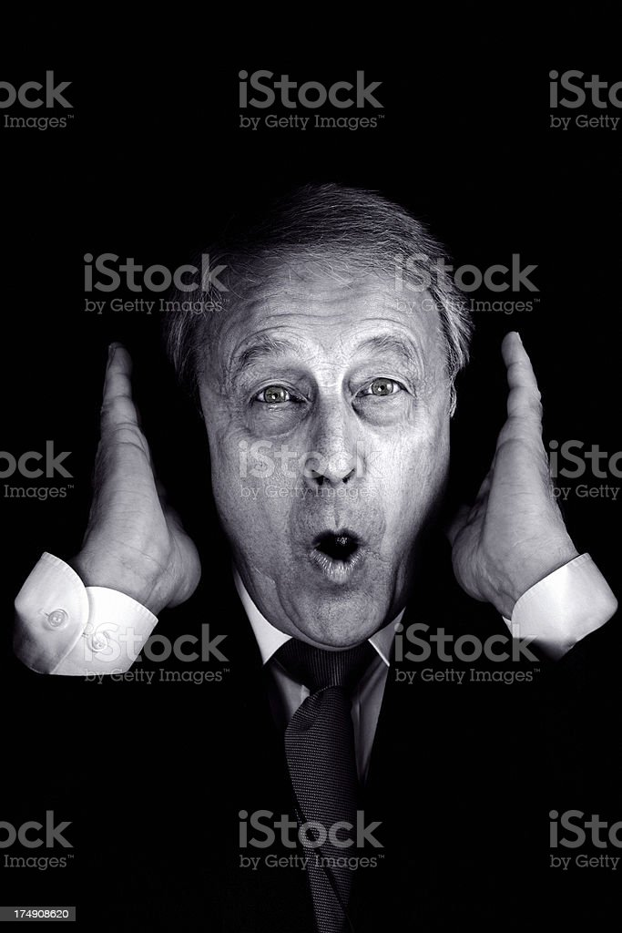 Businessman Irate stock photo
