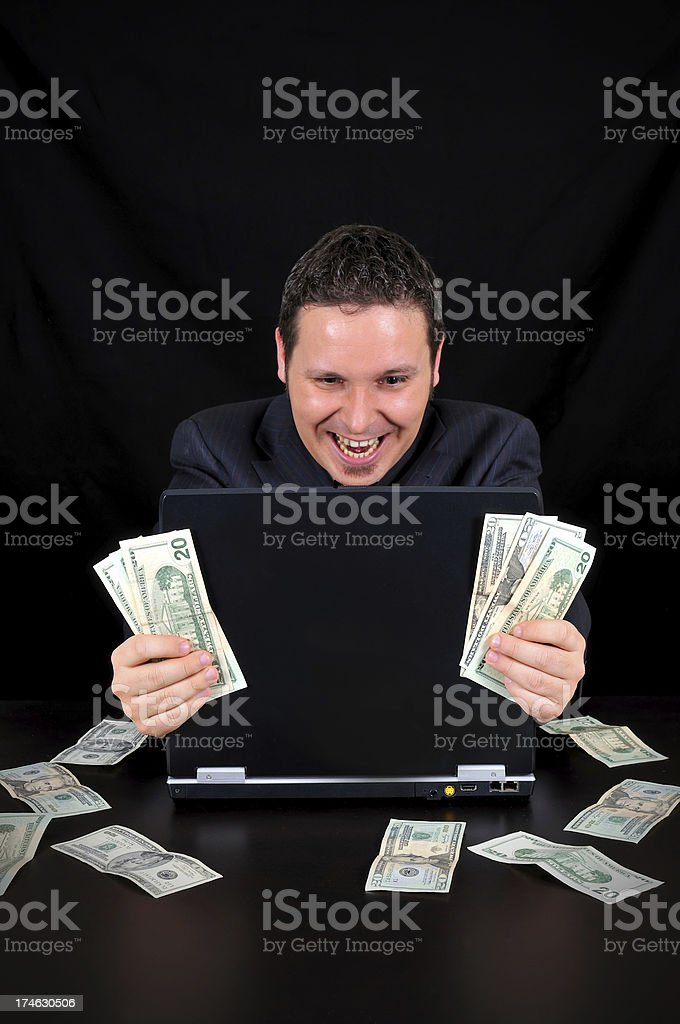 businessman is earned the money royalty-free stock photo