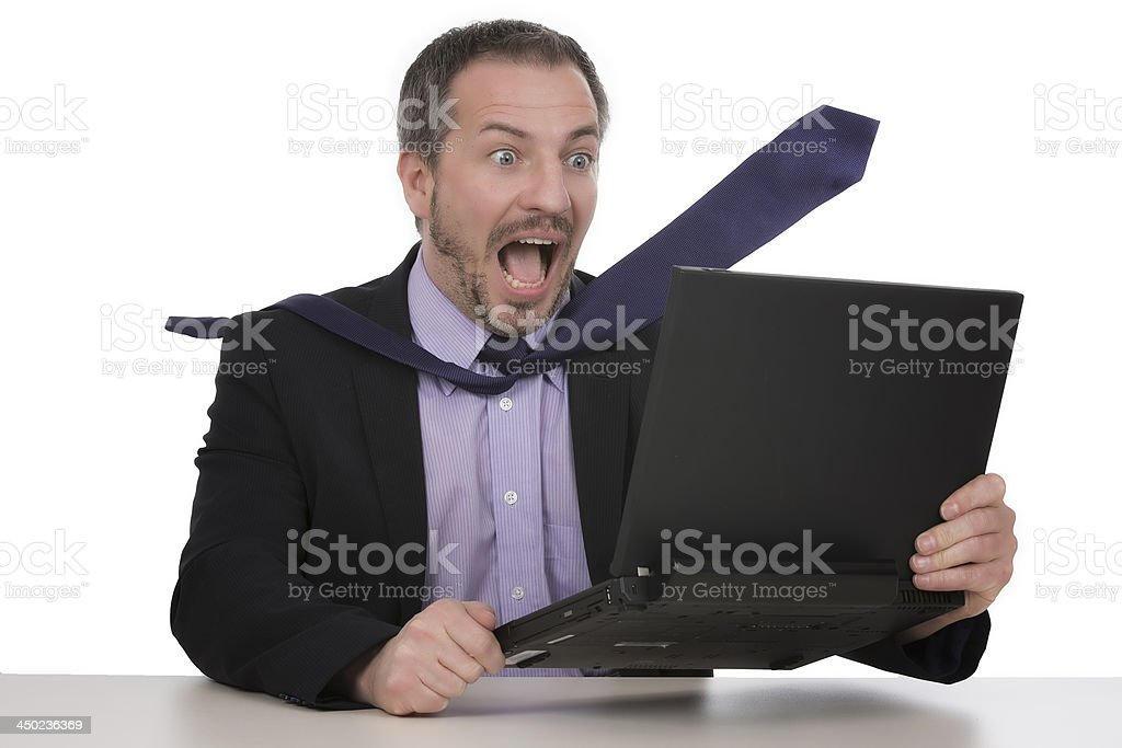 Businessman is horrified royalty-free stock photo