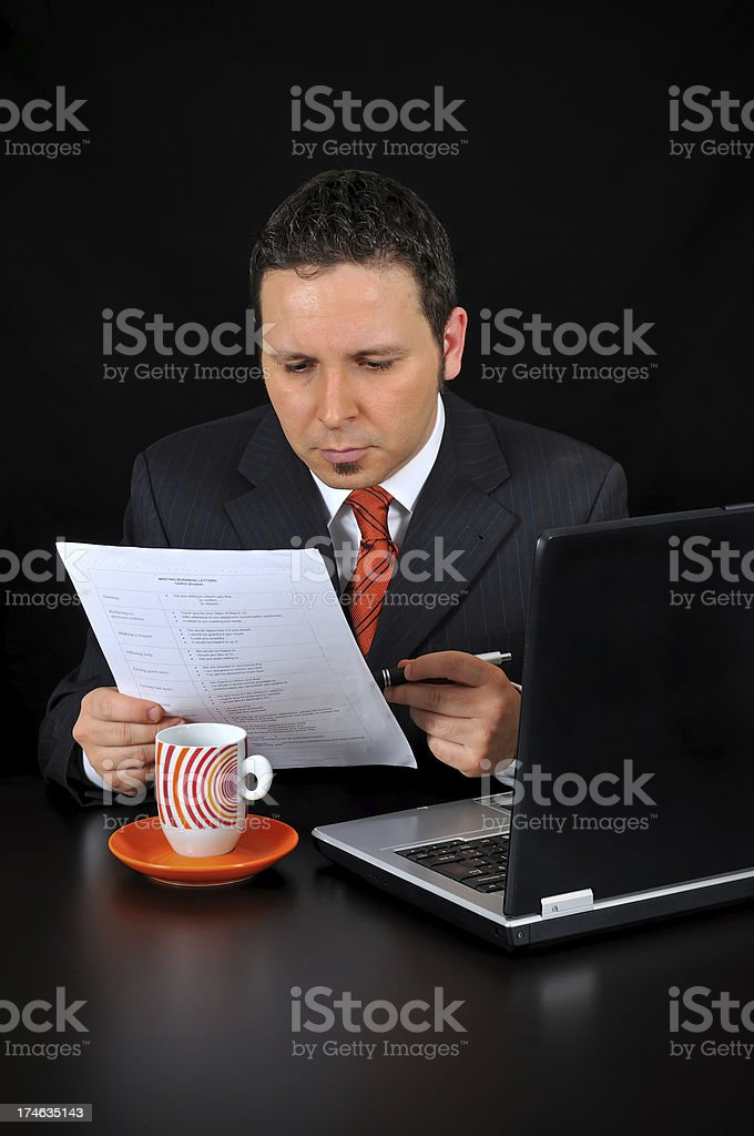 Businessman is Reading royalty-free stock photo