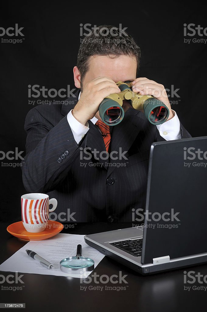 Businessman is Researching royalty-free stock photo