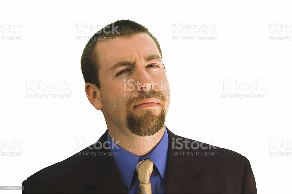 Businessman is Skeptical royalty-free stock photo