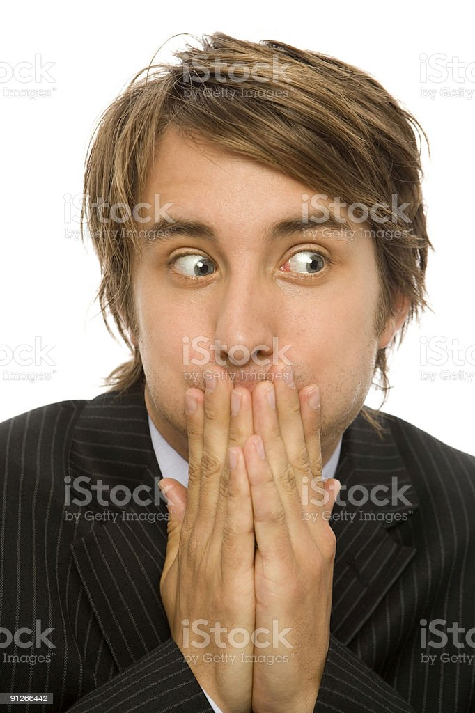Businessman is surprised royalty-free stock photo