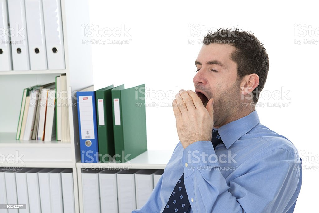 businessman is tired stock photo