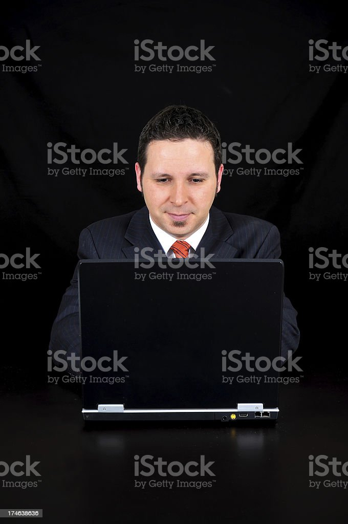 Businessman is using the computer royalty-free stock photo