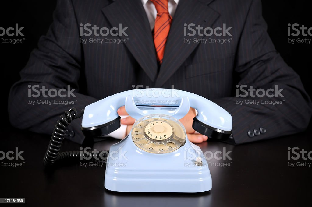 businessman is waiting for Important call royalty-free stock photo