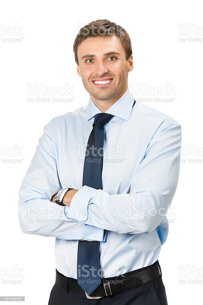 Businessman, isolated on white royalty-free stock photo