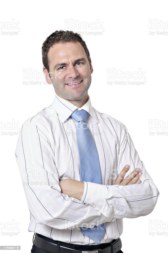 Businessman isolated on white stock photo