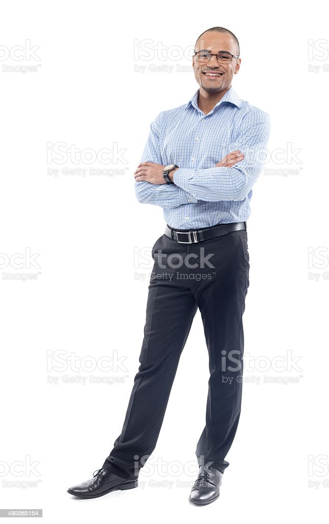businessman isolated on white stock photo