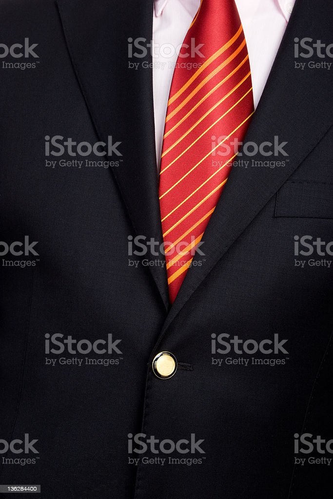 businessman jacket and tie royalty-free stock photo
