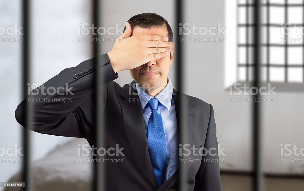 businessman jailed by fraud to the treasury stock photo