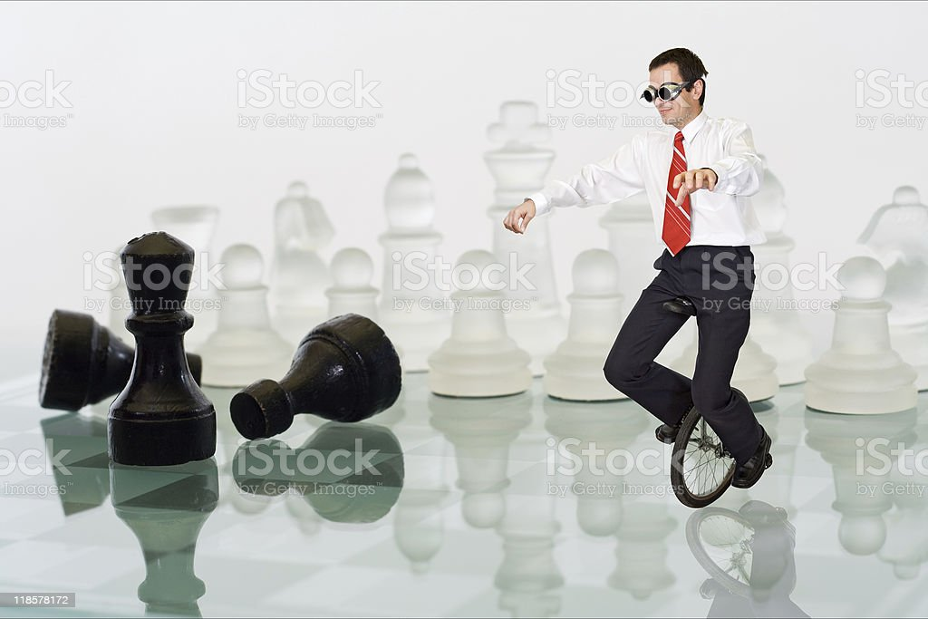 Businessman keeping the balance royalty-free stock photo