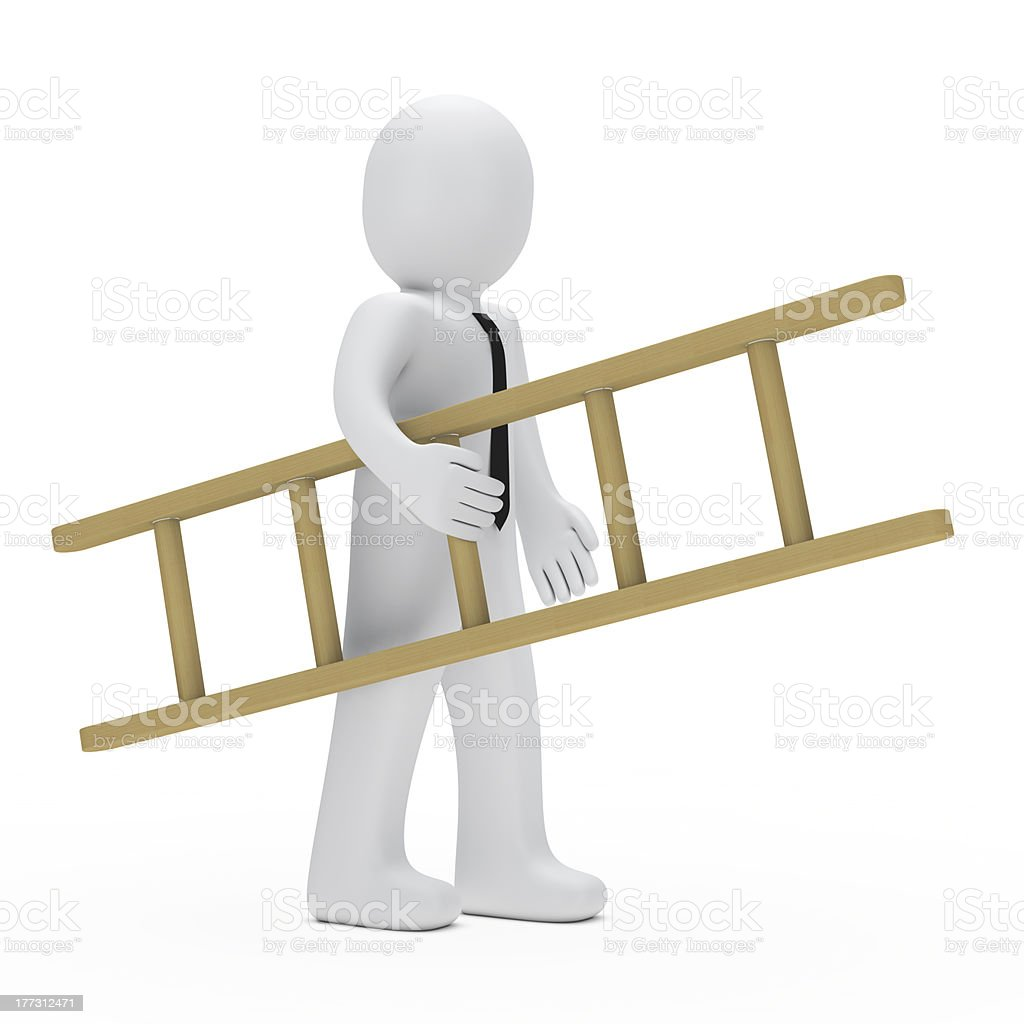 businessman ladder royalty-free stock photo