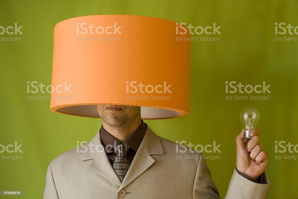 Businessman lamp head royalty-free stock photo
