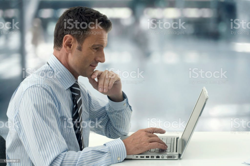 Businessman Laptop royalty-free stock photo